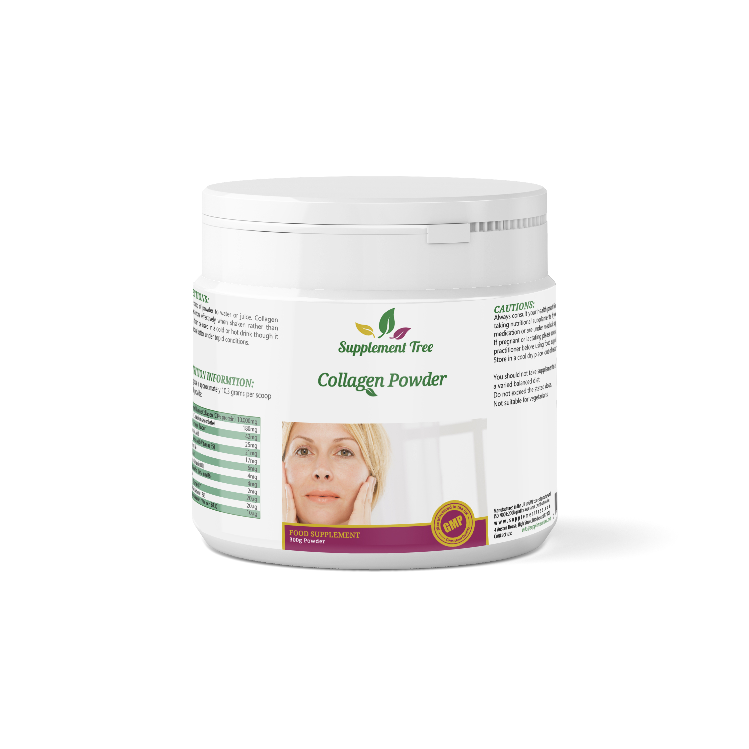 Collagen Powder 300g with Hyaluronic Acid & Essential ...
