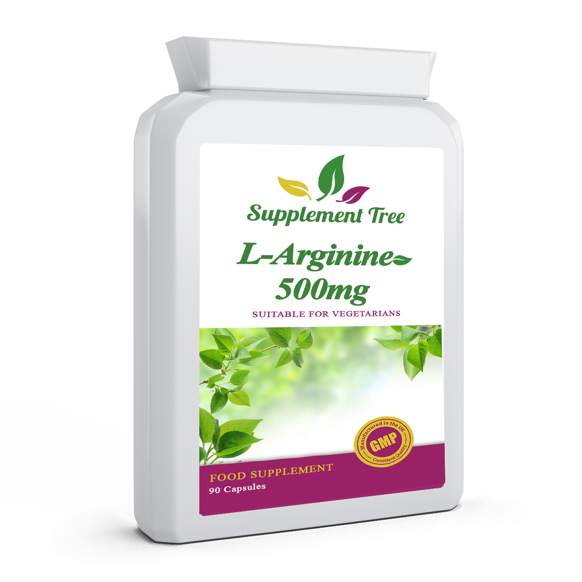 L-Arginine (HCL) 500mg 90mCapsules - Supplement Tree