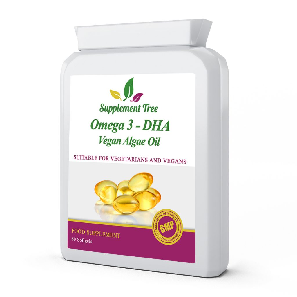Omega 3 DHA – Vegan Algae Oil – 60 Soft gel