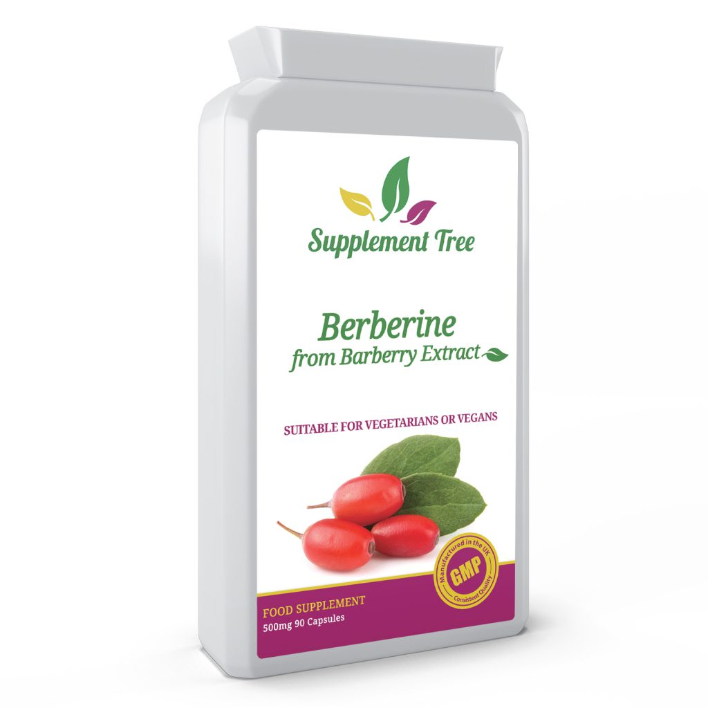Berberine From Barberry Extract 500mg 90 Capsules
