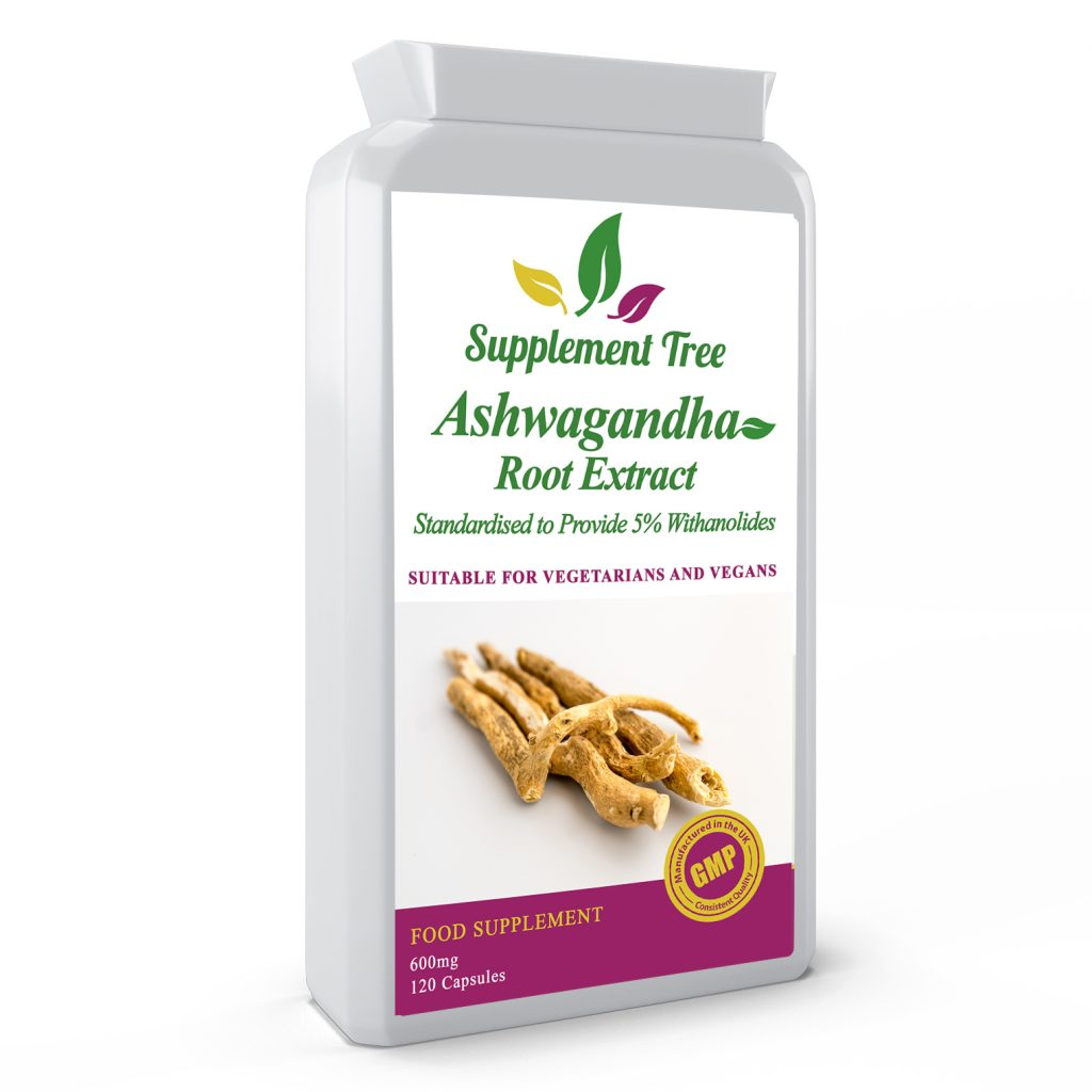 Ashwagandha Root Extract 600mg 120 Capsules 5% Withanolides