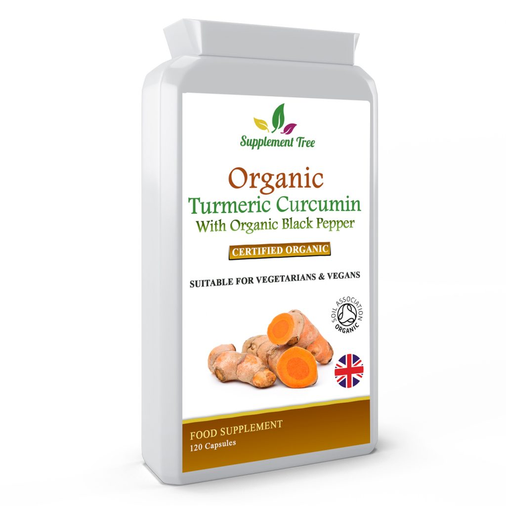 Organic Turmeric 600mg With Organic Black Pepper 5mg – Soil Association Certified