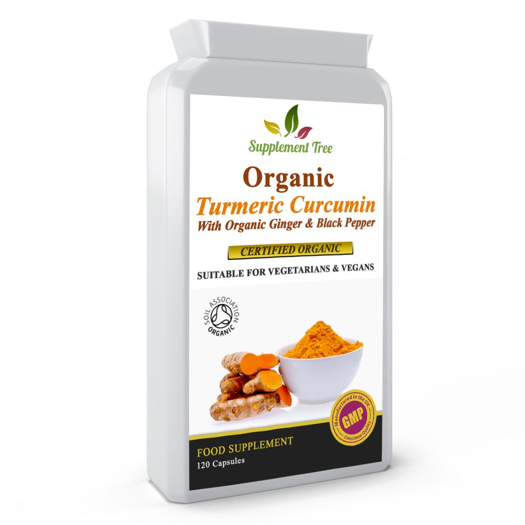 Organic Turmeric 700mg With Organic Ginger 50mg & Organic Black Pepper 5mg – Soil Association Certified