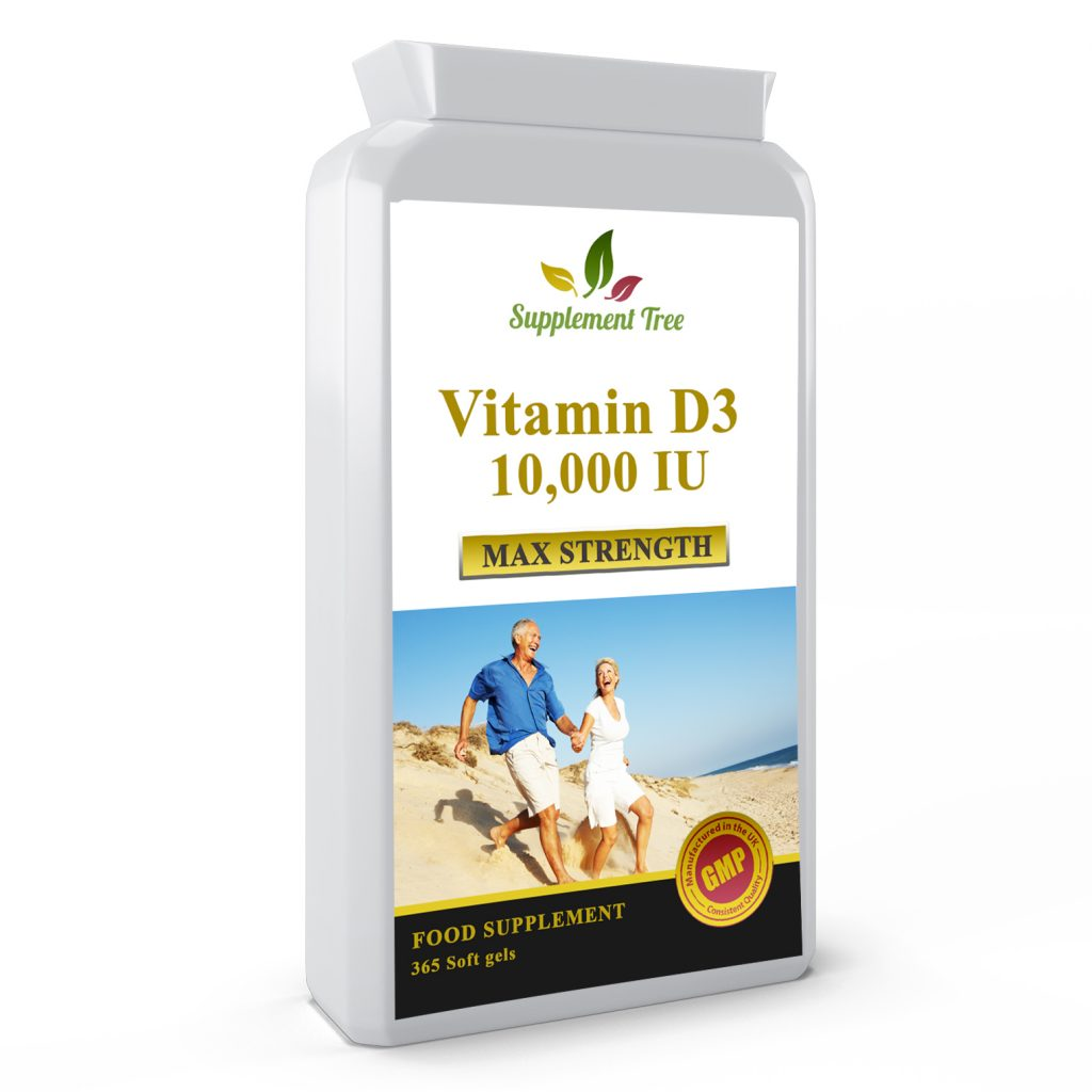 Vitamin D3 10000iu 365 Softgels Capsules – High Strength Vit D Cholecalciferol